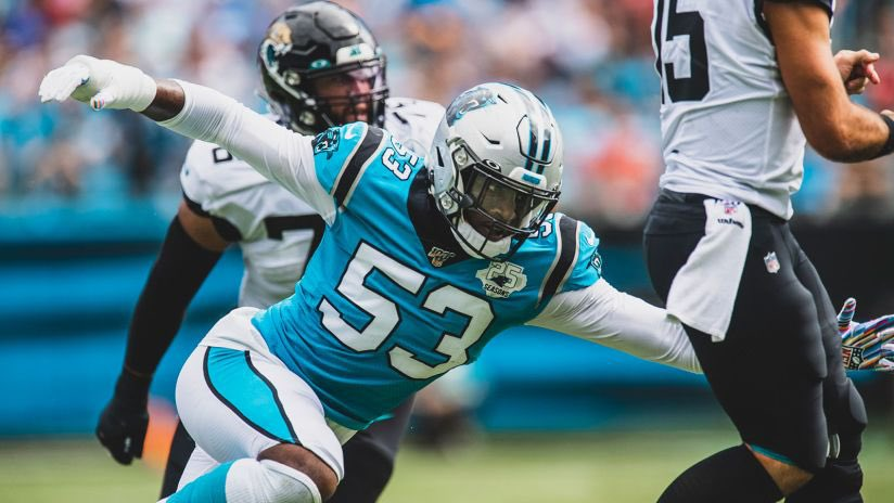 BREAKING: We have reached an agreement with our pro bowl DE Brian burns to an extension worth 5 years/82 million. We're very excited to have Brian be a part of our future #KeepPounding
