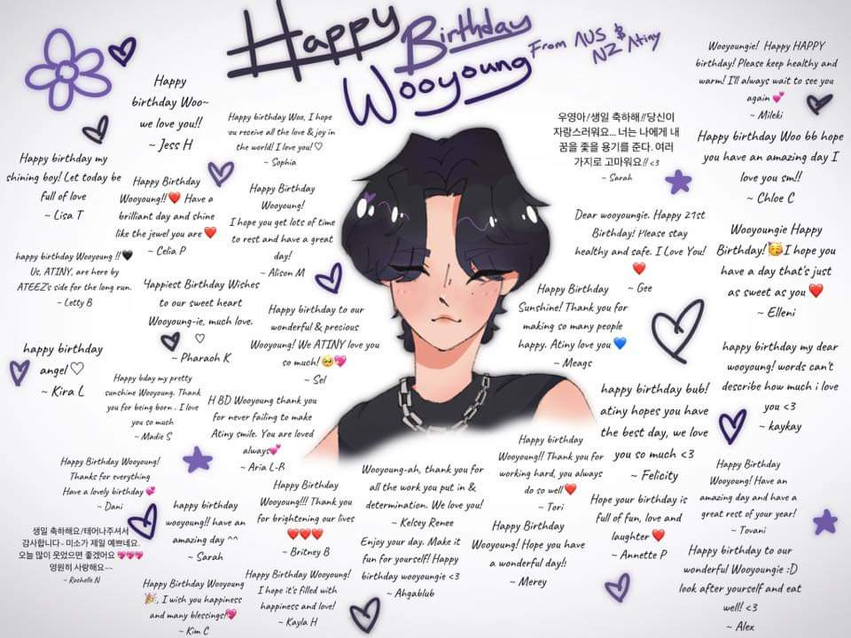 Happiest Birthday wishes Wooyoung~ie 🥰 from all of us here in Australia and New Zealand #WOOYOUNG #WooyoungDay #WooyoungIsOurMelody @ATEEZofficial @kqent #ATEEZ #ATINY