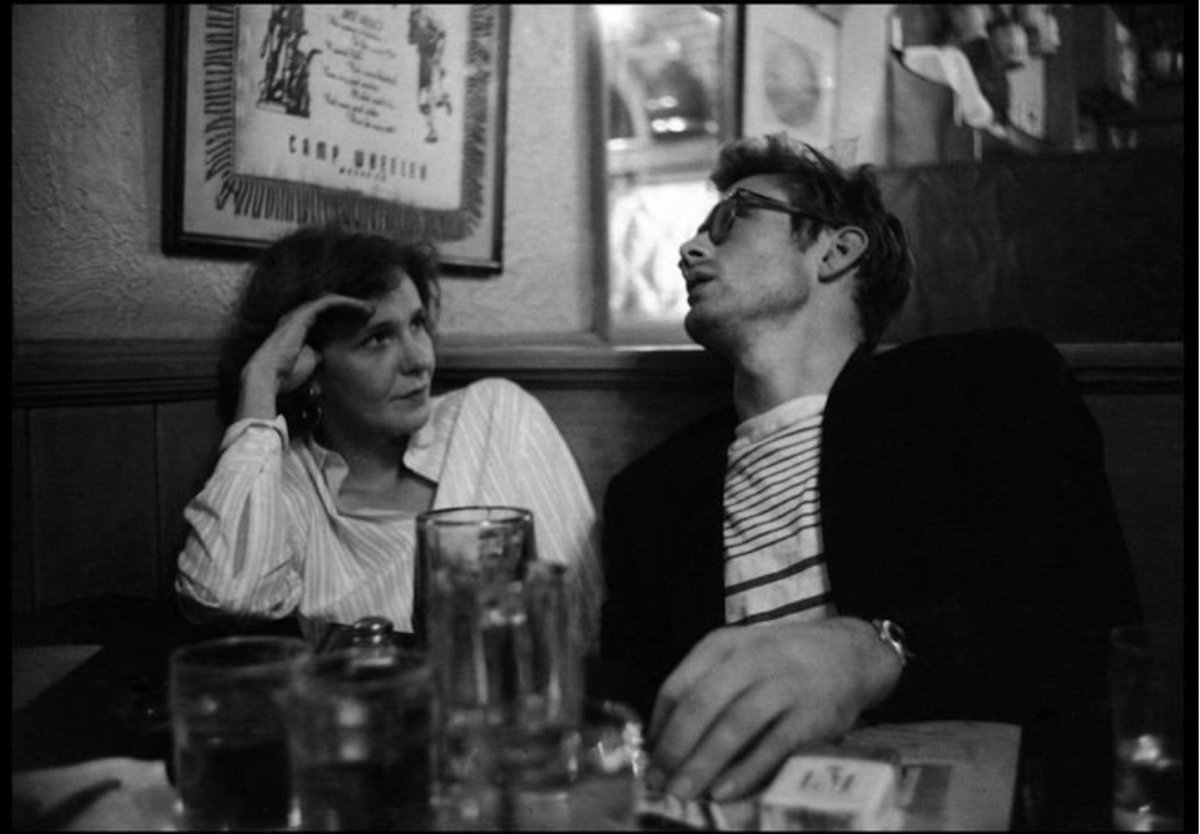 This contains multitudes. Geraldine Page and James Dean, 1955, NYC.
