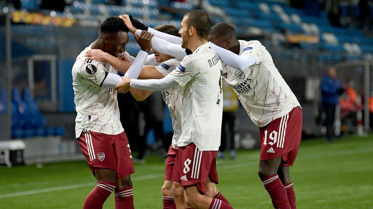 😍 That first goal feeling!   Congratulations, @FBalogun67 🎉  #UEL