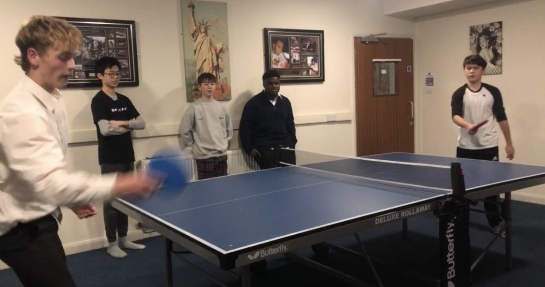 Xt charity table tennis tournament, superbly organised by Simon and Will, heading into the final stages #nildesperandum