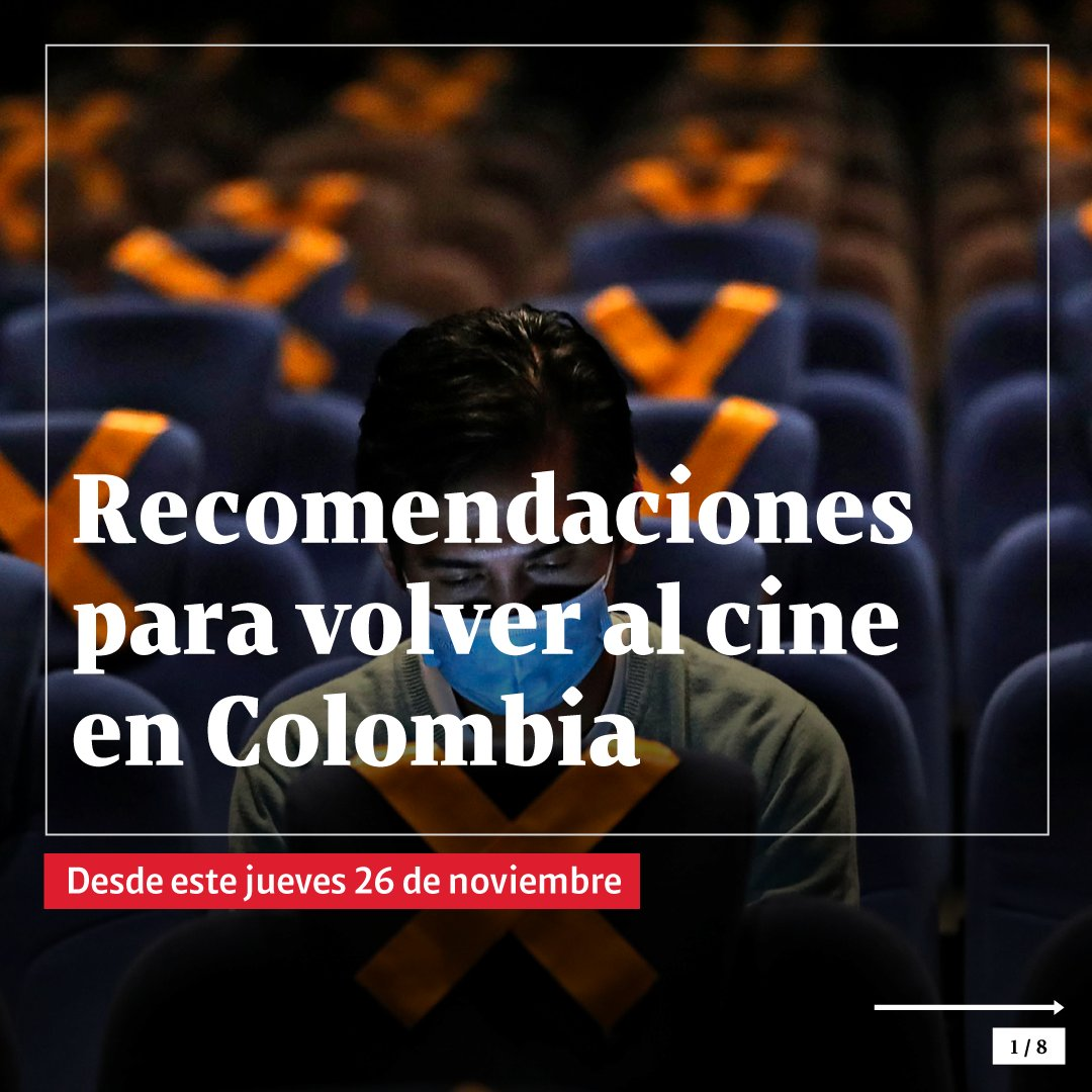 ¡Ya se puede ir a cine en Colombia! Ojo a las recomendaciones para asistir a las salas.