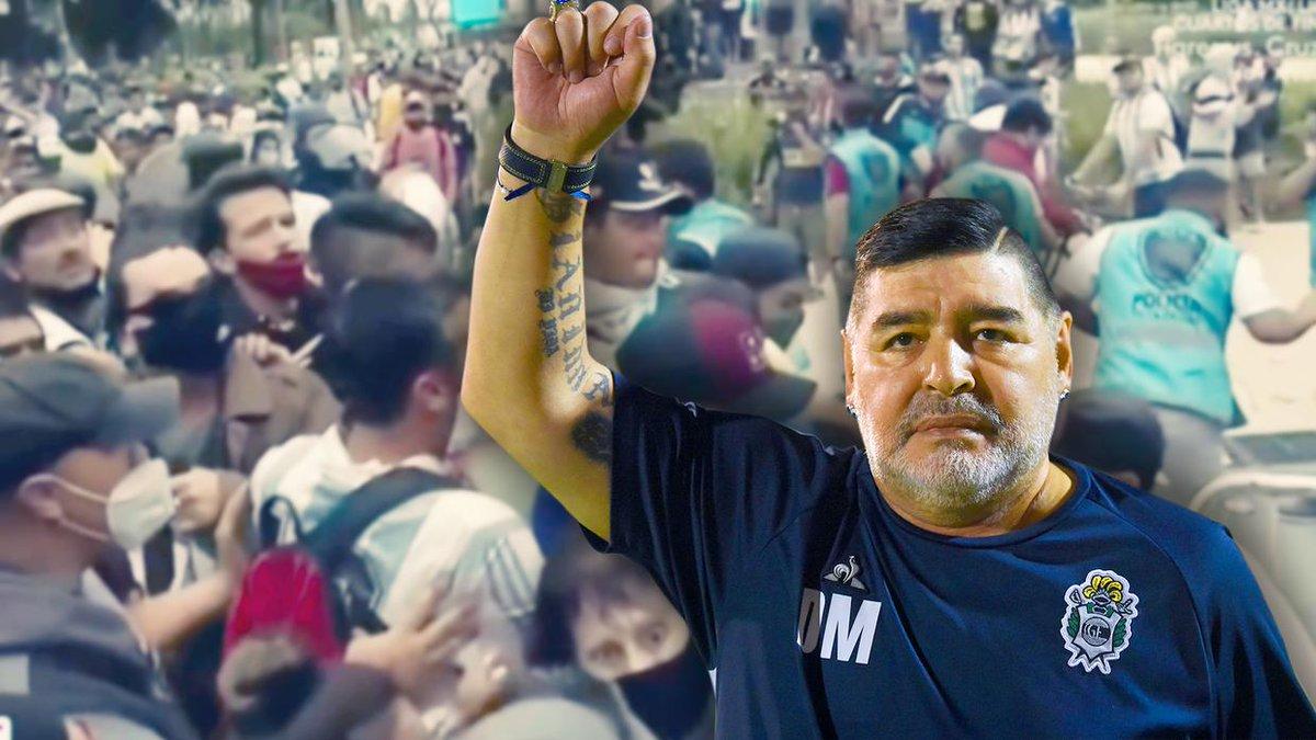 Se desata el caos tras abandonar el ferétro de Diego Armando Maradona la Casa Rosada.