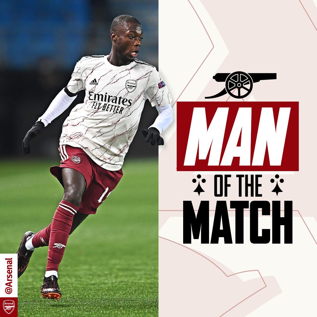 🏆 Your MOTM from last night's win...   Nicolas Pepe! 🥳   #UEL