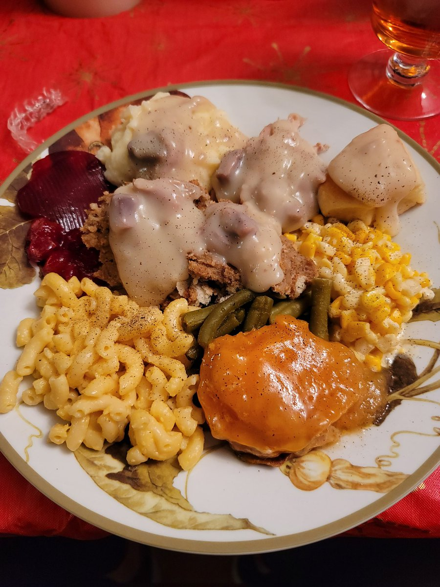 JoshOG - After being on a 1400 calorie cut for 3 weeks, this is my Thanksgiving meal lol  Gravy is spread on mashed potatoes, turkey and stuffing  I feel like I'm going to POP