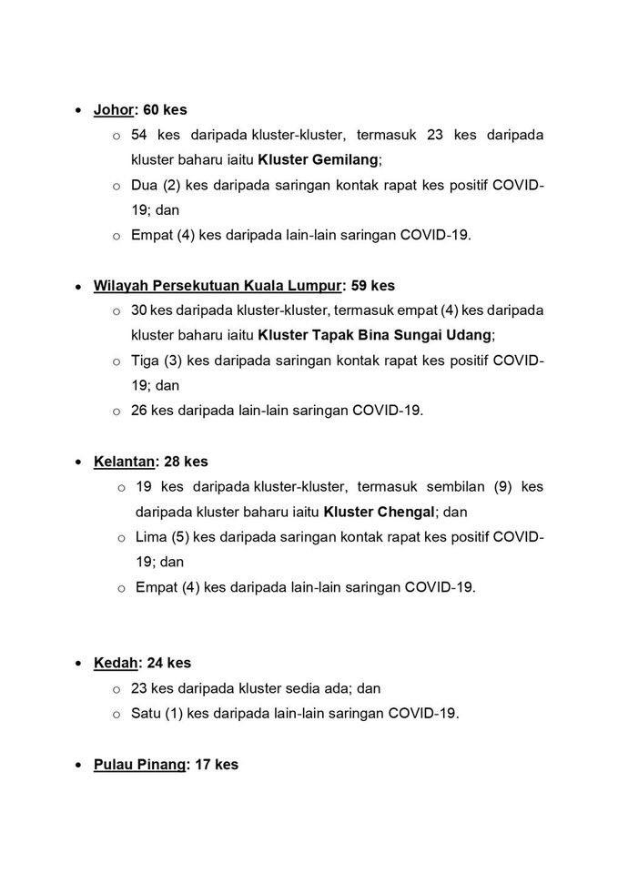 #ICYMI Kenyataan Akhbar KKM Situasi Semasa Jangkitan COVID-19 di Malaysia | 26 Nov 2020  3/3
