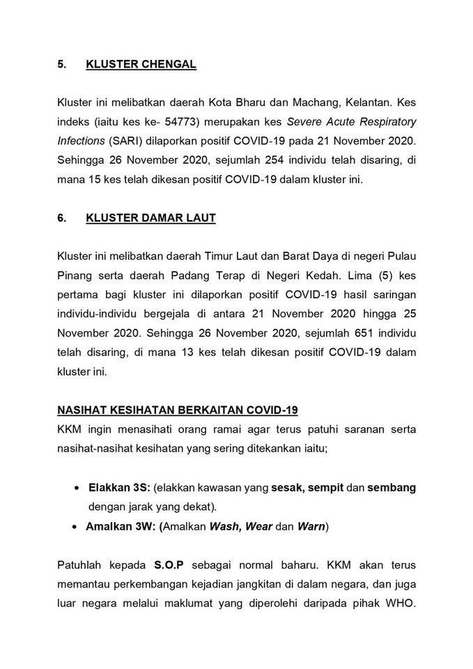 #ICYMI Kenyataan Akhbar KKM Situasi Semasa Jangkitan COVID-19 di Malaysia | 26 Nov 2020  2/3