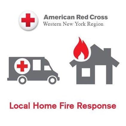 """Southern Tier Chapter""""s disaster volunteers provided immediate assistance for 5 adults at the scene of a fire on Fulton St. in Elmira. #ChemungCounty #SouthernTier #RedCross #EmergenciesDontStop"""
