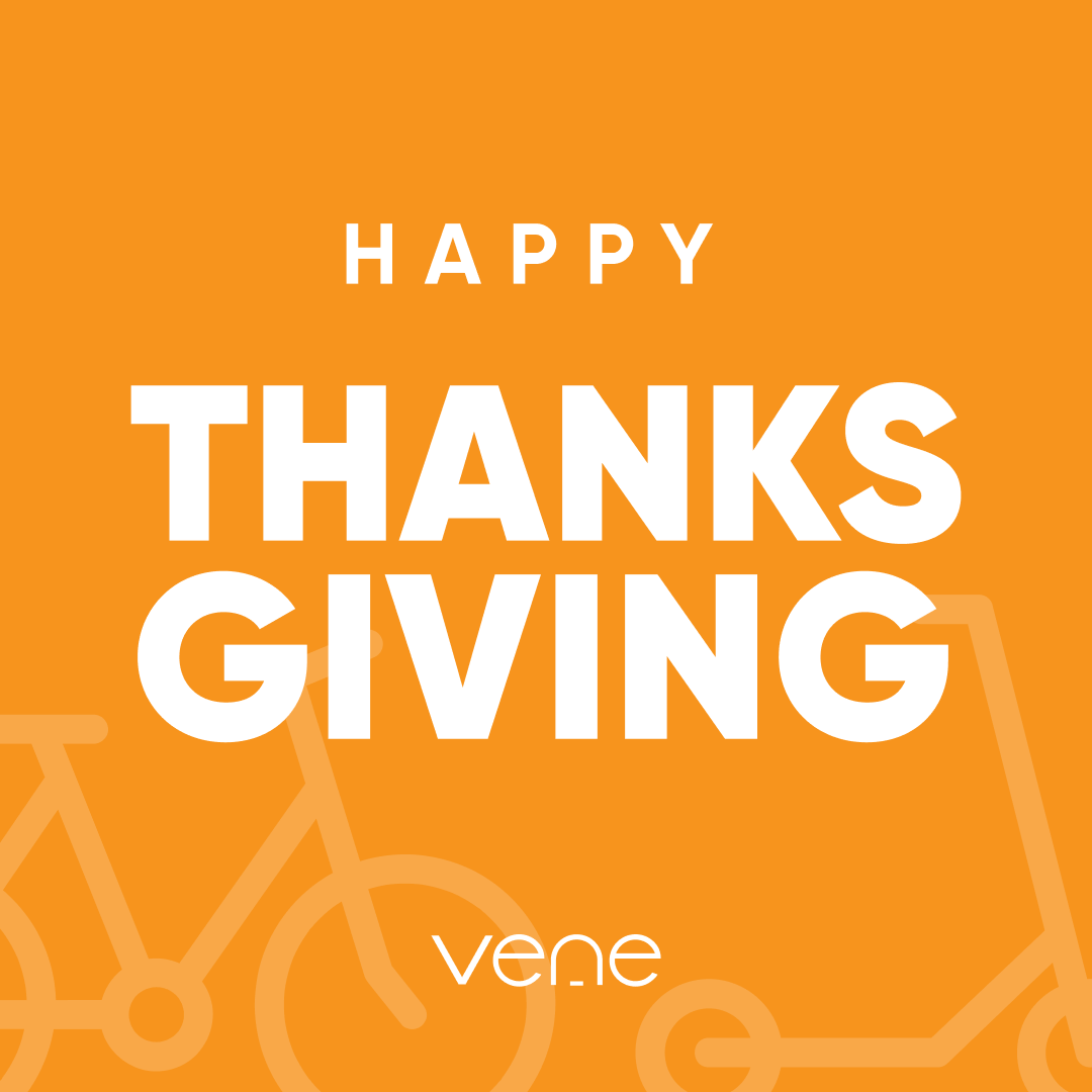 Happy Thanksgiving e-riders!  What are you grateful for this year? #venerides #thanksgiving #grateful #ebike #escooter https://t.co/Fq4ysizgwm
