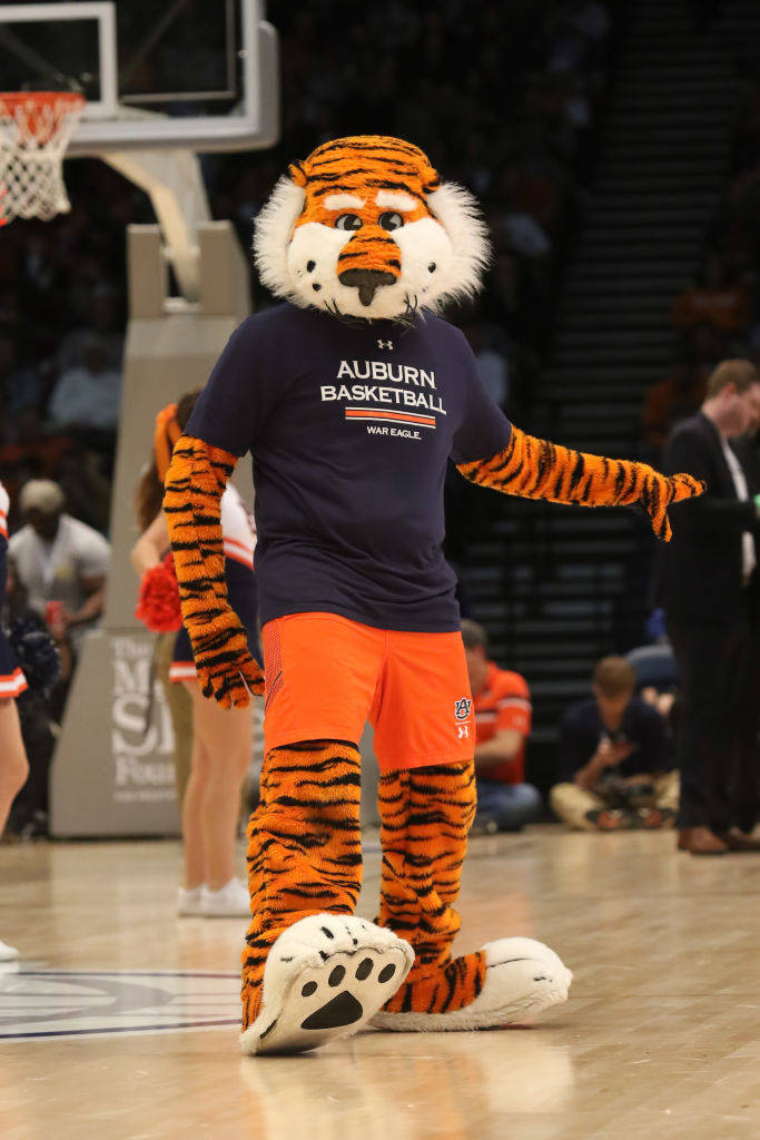Auburn faces No. 1 Gonzaga in basketball tomorrow and No. 1 Alabama in football on Saturday. It is the first time the same school has played No. 1 in football and mens basketball in back-to-back days (either order).