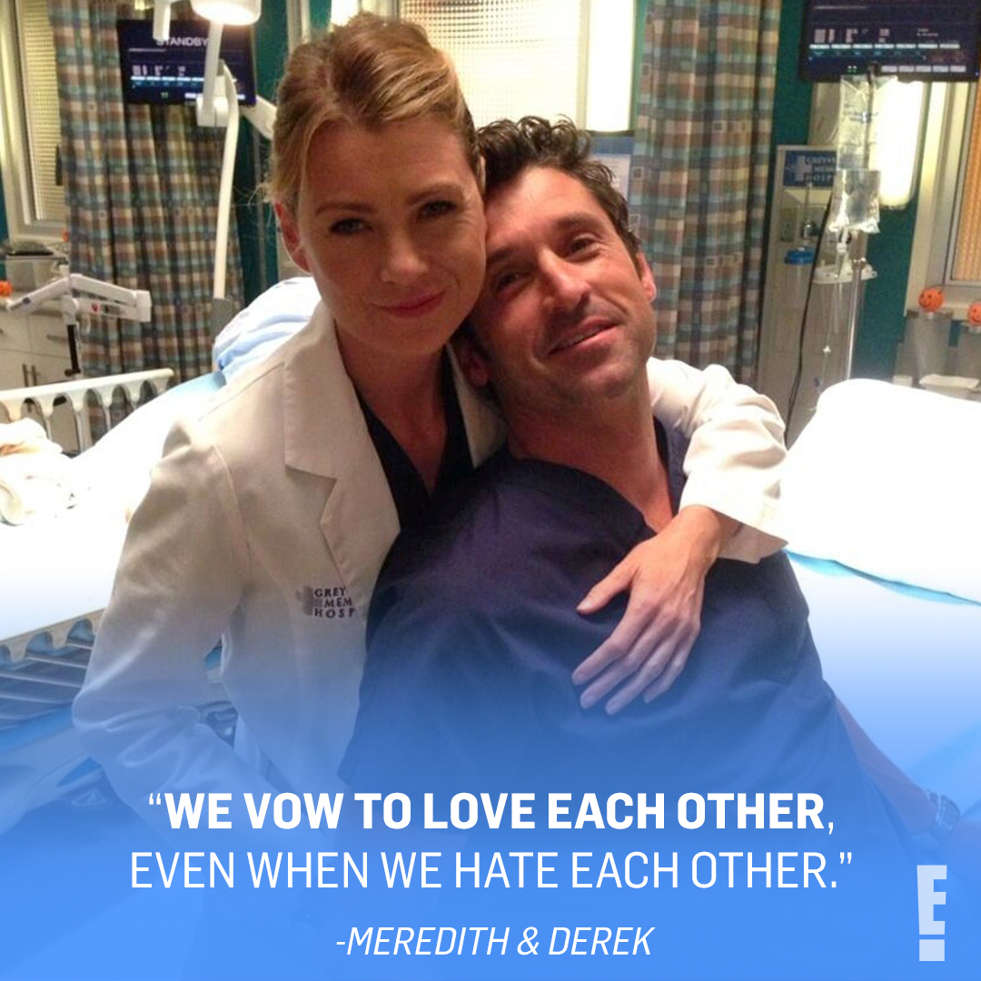 After a dark and twisty 2020, we're #ThankfulFor @EllenPompeo & @PatrickDempsey giving us 10 ccs of serotonin. (📷: Instagram/Getty)