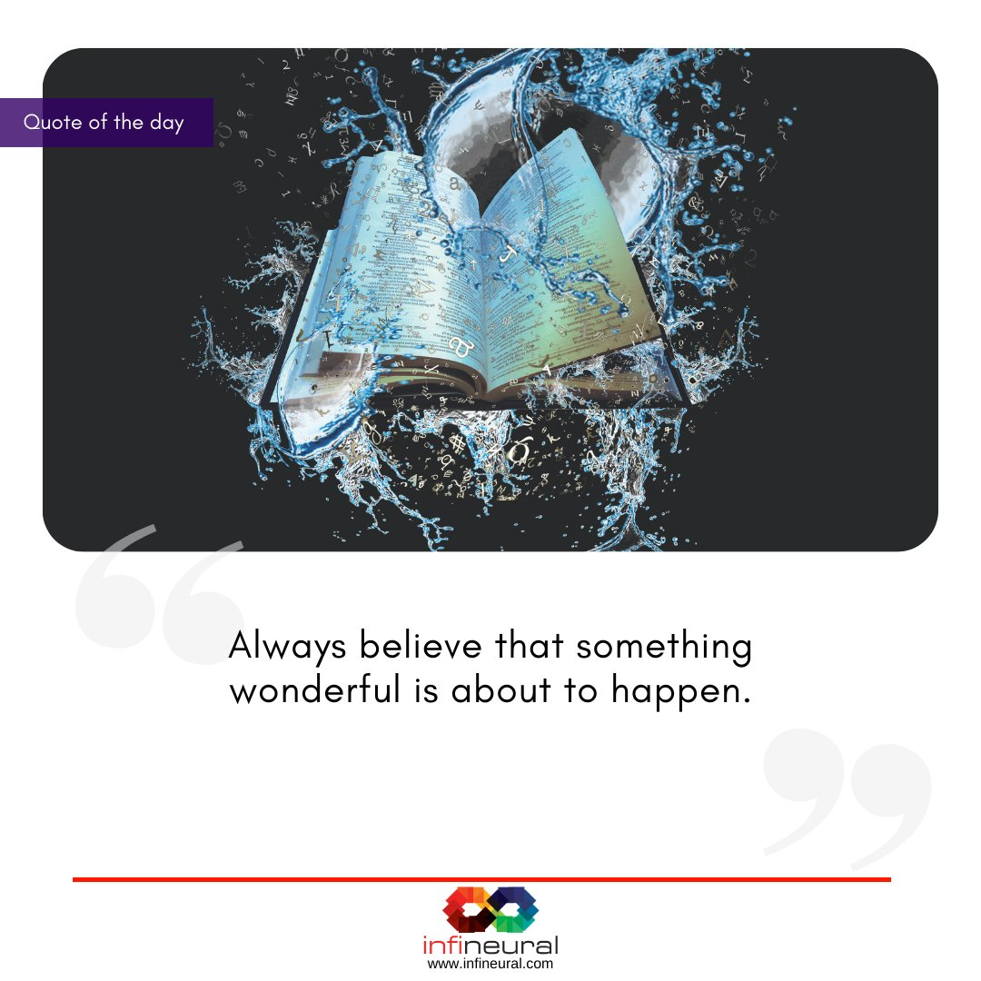 Always believe that something wonderful is about to happen.  #successful #success #successmindset #motivation #hustle #hardwork #motivationalquotes #entrepreneur #follow #loveyourself #positive #quotestagram #inspiration #quotesaboutlife #motivationalquote #motivational https://t.co/GnqfGHo4KO