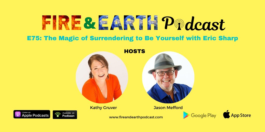 E75: The Magic of Surrendering to Be Yourself with Eric Sharp https://t.co/SdHtVX23xC  #EP75 #fireandearthpodcast #podcast #speakers #podcasters #Episodes #kathygruver #jasonmefford #podcast #podcastinglife #podcasting #sharpo #sharp #surrender https://t.co/qPdbnUj4FC