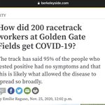 Image for the Tweet beginning: 200 workers apparently tested positive