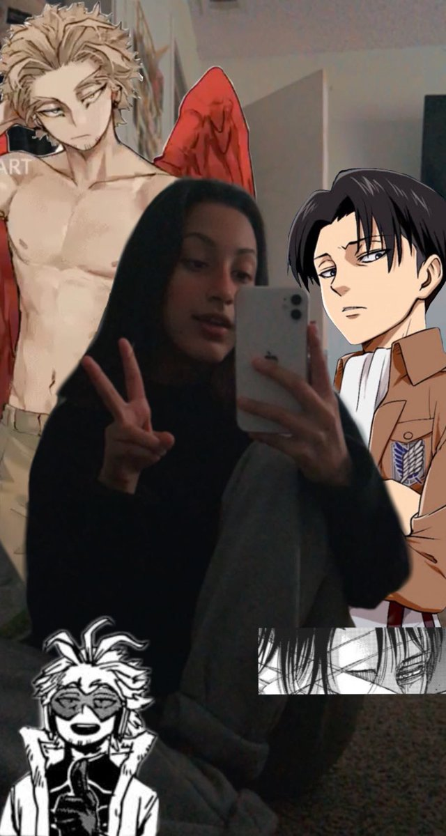 lol this was my first time using picsart but i just had to take one with levi and keigo <33                             #ANITWTSELFIEDAY (^-^*)/