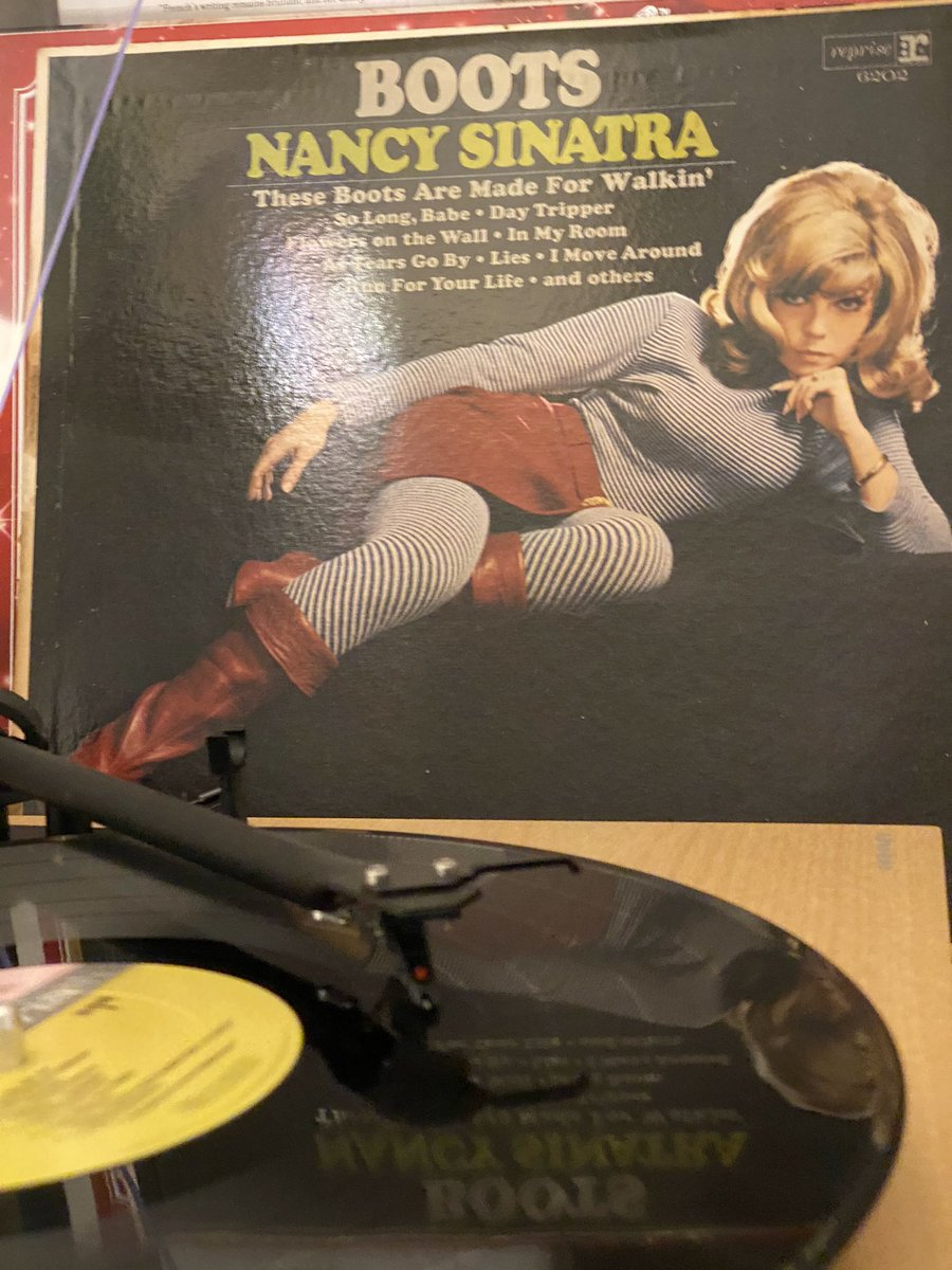 """Excellent turkey dinner dishes clean-up music, and musical preparation for that @NancySinatra """"Some Velvet Morning"""" single tomorrow at record stores. #RSDBF #thesebootsweremadeforwashing"""