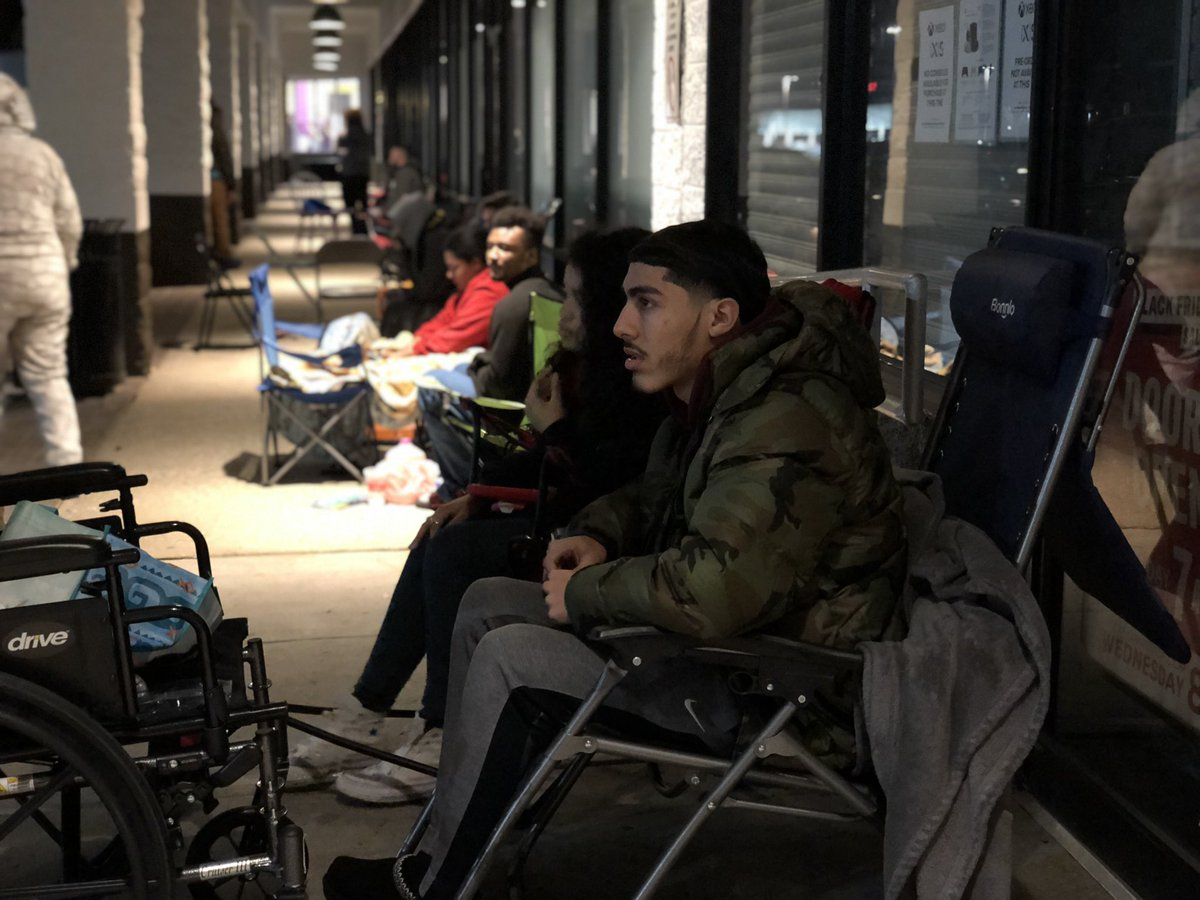 Spoke to soon... people are lining up electronic stores for The PS5 and Xbox. This gentleman is first in line and had been waiting since Wednesday afternoon.