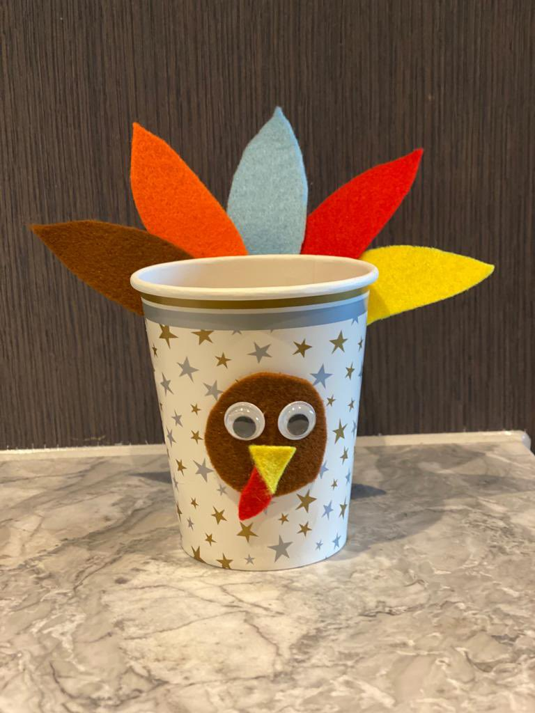 My baby made this cup 🦃 #HappyThanksgiving 🧡