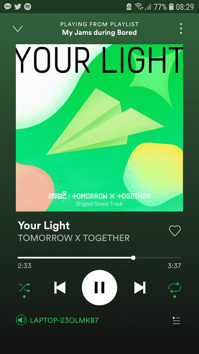I can't stop me, can't stop me to listen to this song~😍😍😍😍😍😍 @TXT_members #YourLightWithTXT