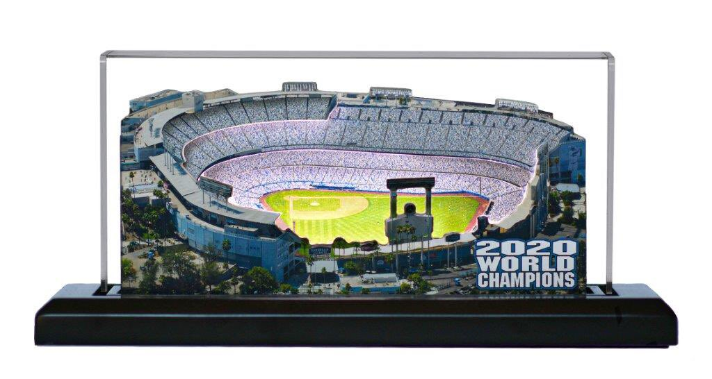 Check out this replica of @Dodgers stadium!  My friend at  sent it to me. They have football & baseball 3-D lighted replica stadiums, including the updated 2020 World Champion Dodger Stadium! ⚾️