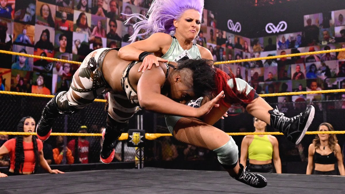 Toni Storm SHOCKED the entire #WWENXT Universe by betraying @WWEEmberMoon and joining Team @CandiceLeRae! https://t.co/ETg8vOmWaw