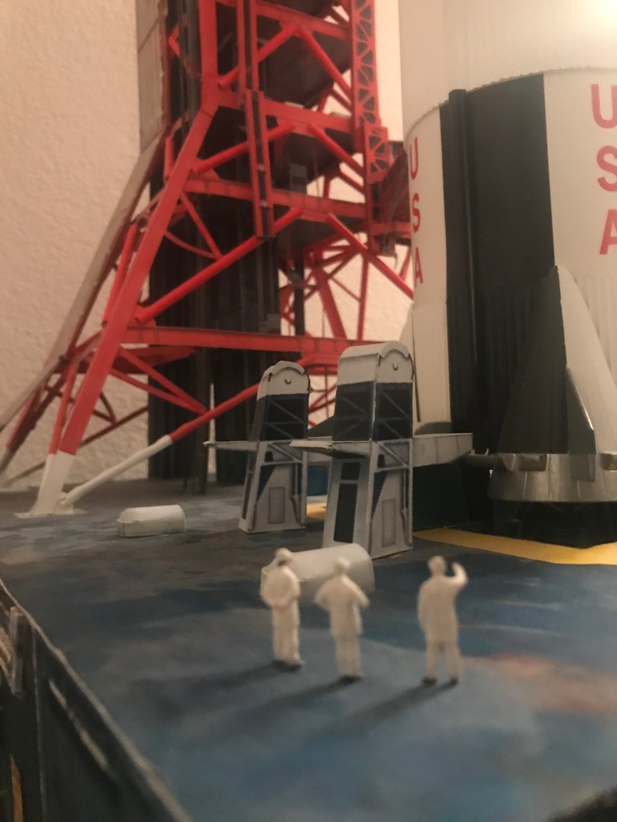Saturn V go for launch in its LUT. This was a model I wanted to build since I was a child. The Covid was a good opportunity. #NASA #ProjectApollo #Apollo50years #LaunchAmerica #SaturnV