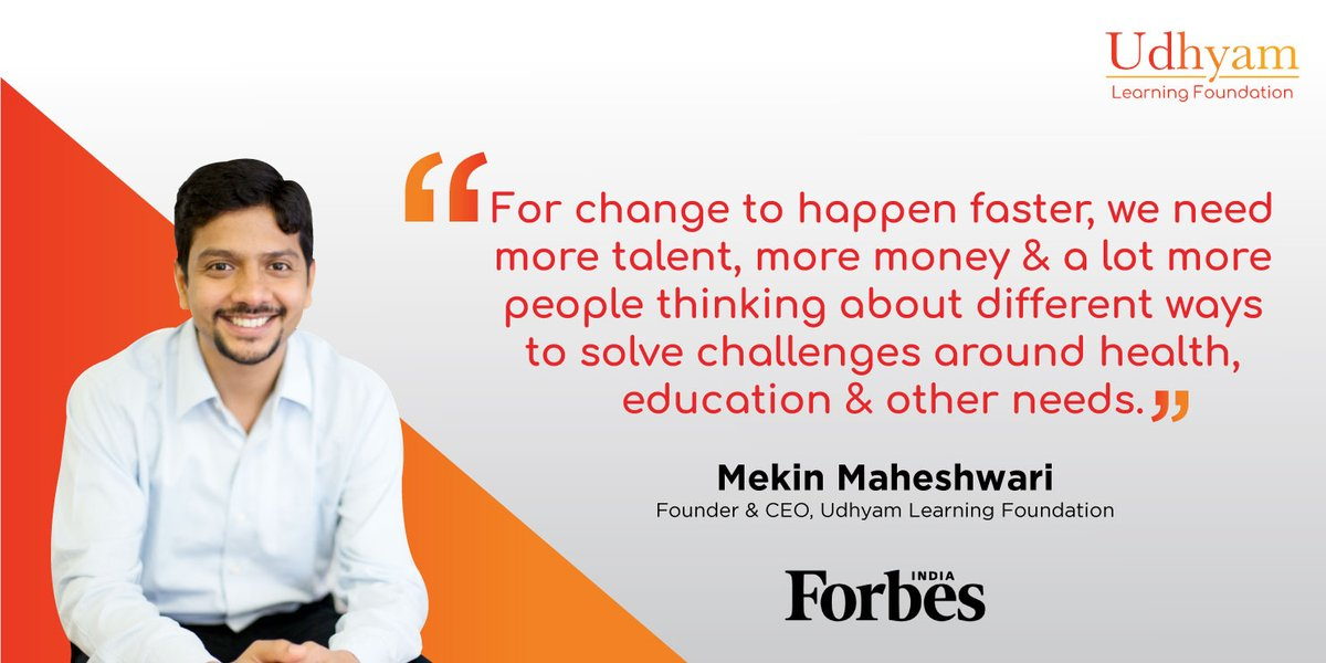 In conversation with @forbes_india, our Founder & CEO @_mekin discussed the adversities faced by the nano-entrepreneurs in the wake of the pandemic & how it led him to build the #StartupsForCovid19 platform.    #Udhyam #Entrepreneurship #CrisisManagement
