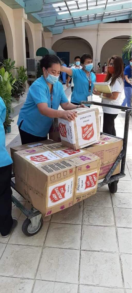 This is what the #SalvationArmy's #FrontLineHeroes during a global #Covid_19 crisis look like ... loading and unloading boxes in the #Philippines, #Netherlands and #CzechRepublic… lots of them. Thank you for your service to humanity. #InThisTogether