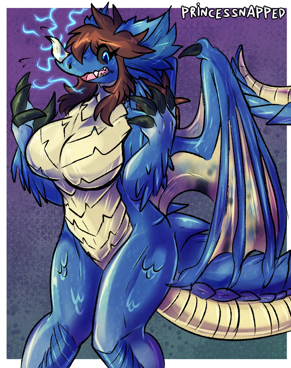 Replying to @Princessnapped: tf into a blue dragon from DnD  (I don't do this kind of DnD, i just like the design)