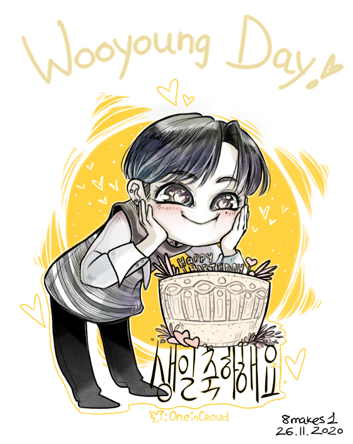 I'm kinda late, but NO I WANT IT ANYWAYS XD ✨HAPPY BIRTHDAY WOOYOUNG!!!1!!1✨ #ATEEZfanart #HappyWooyoungDay #우영아_태어나줘서_Gracias Уен напоминает мне солнце, поэтому вот так :D