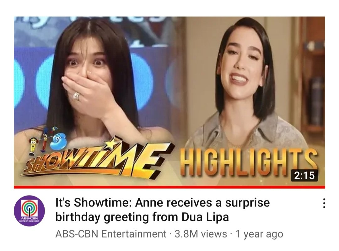 Sana all, @annecurtissmith @DUALIPA!  How it started                 How it's going