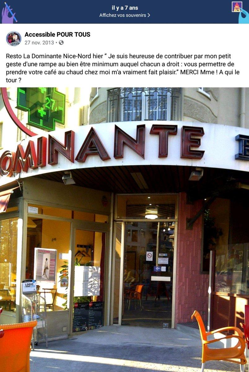 Petit souvenir d'il y a 7 ans, toujours appréciable quand un restaurant se rend accessible ! Il a suffit de demander ! #Handicap #Accessibilité #Handicapé #PMR #CestLaBase  @AccessibleTOUS https://t.co/FmMXQNXgr6