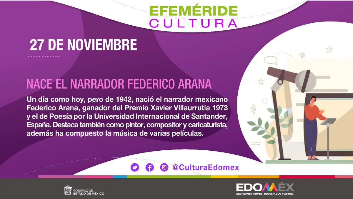 Un día como hoy, de 1942, nació Federico Arana, escritor, caricaturista, músico, compositor y pintor. Autor de la novela