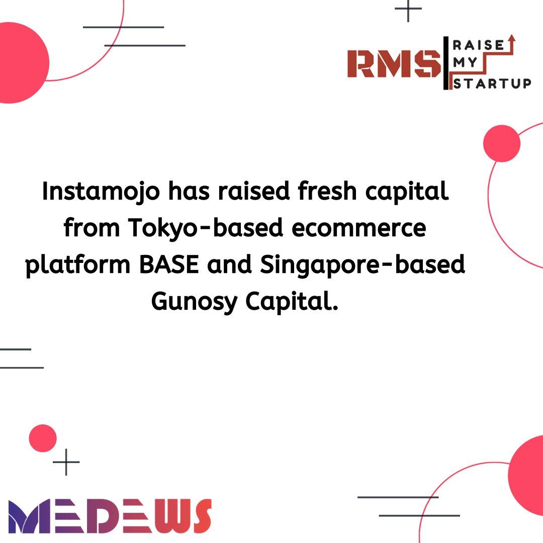 Instamojo has raised fresh capital from Tokyo-based ecommerce platform BASE and Singapore-based Gunosy Capital.  #raisemystartup #india #entrepreneur #success #entrepreneurship #startup #tech #investment #investor #startups #funding #startupindia #startupstory #startupnews