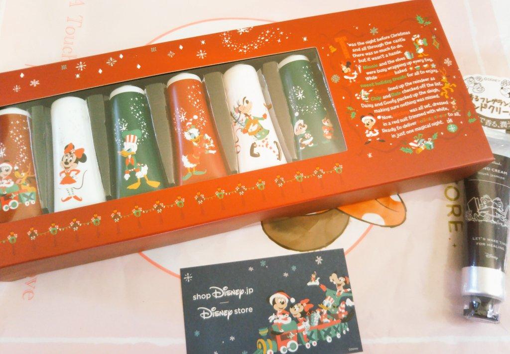 ディズニーストアの通販でハンドクリームを購入しました 宅配の箱もクリスマス仕様でかわいい❄☃🎅🎁💕🎄🎂✨ https://t.co/ulNwk2YF2u