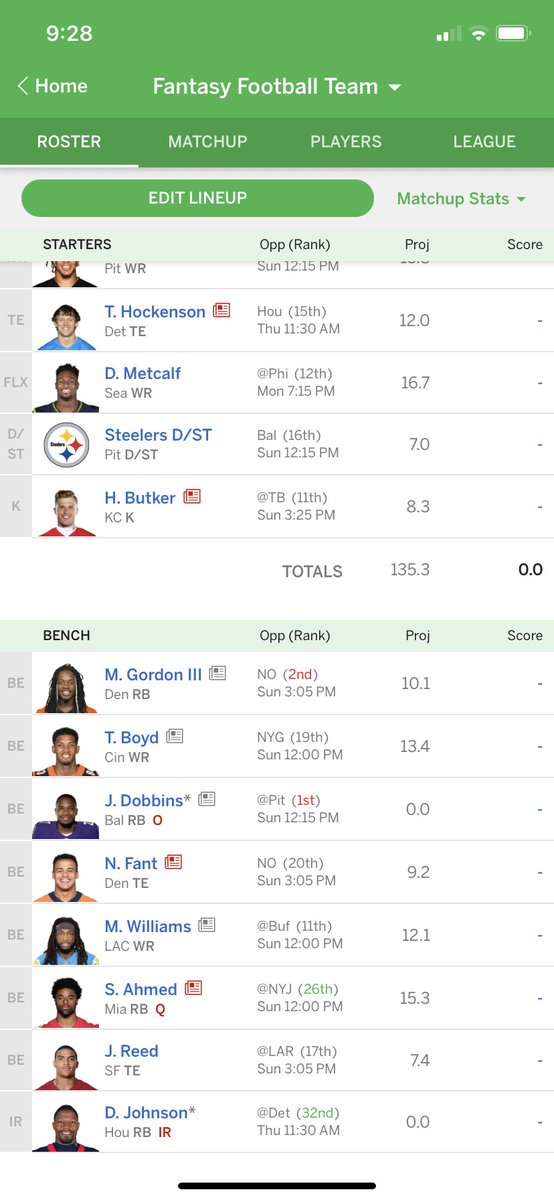@ESPNFantasy @MatthewBerryTMR @FieldYates 2nd place team in my league (I'm 1st) is rolling with Taysom Hill at TE as long as possible.  No other TE's on their roster.  Do I drop anyone to block and hold more on my roster for playoff time?  Head to head with them this week as well. https://t.co/vztDQfgjVr