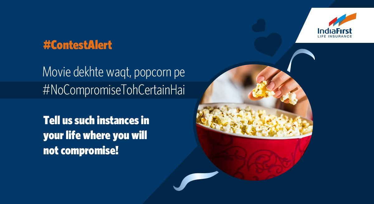 #ContestAlert Your story of no compromise can make you win amazing prizes. All you need to do is comment below the instances in life where you won't compromise ever kyunki ab #NoCompromiseTohCertainHai.  T&C Apply: https://t.co/IjlZMVC9K6 #NoAadheVaade #GuaranteedProtectionPlan https://t.co/oURhH3dpSd