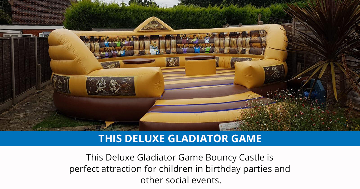 Deluxe Gladiator Game £140  This #Deluxe #Gladiator #Game is a perfect attraction for children and adults and considered as an essential item for #birthday #parties and other social events. They are usually a big hit at any family gathering, celebration   https://t.co/MaeJvAVPvo https://t.co/UFNnYY2SN3