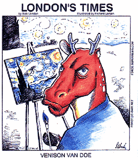 Venison Van Doe by @RickLondon @GiftsLT #LTCartoons #humor #comics #cartoons #funny #humorous #art #vangogh #starrynight https://t.co/CPSDAIAKHV