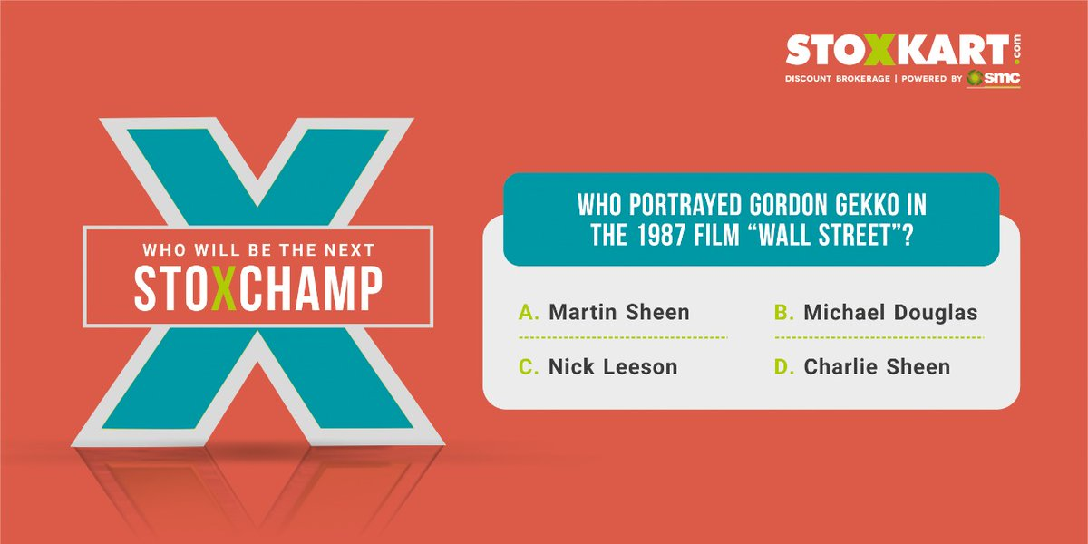 Last Question is here!  Participate & Stand a chance to become STOX-CHAMP of the Month & Win exciting prizes. Answer & tag your friends. Winner will be featured on our page at month end.  #StockQuiz #ContestIndia #ContestAlert #Contest #stocks #StockTrading #NSE #BSE #nifty50 https://t.co/2KNvxmapMm