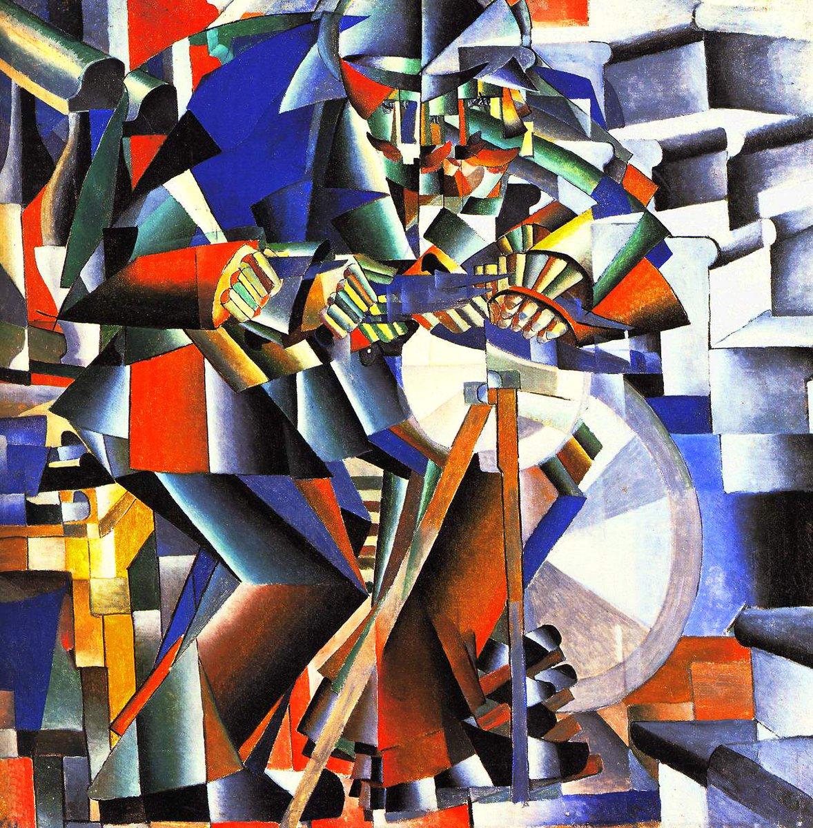 The Knife Grinder (1912) by Kazimir Malevich Style: Cubo-Futurism  #art #painting #KazimirMalevich #CuboFuturism https://t.co/Xz980i9TOZ