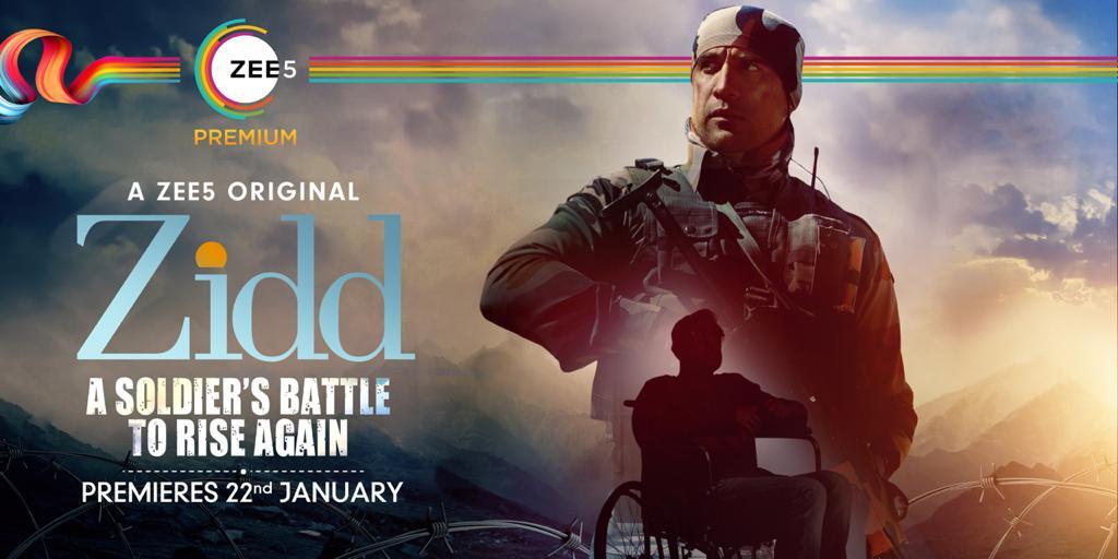 #Zidd Premieres 22nd Jan on @zee5premium #JeetKiZidd Inspired by true story of a #Kargil war hero #MajorDependraSinghSengar is played by  @theamitsadh  #AmritaPuri @freshlimefilms @boneykapoor @BayViewProjOffl @akash77 @JoyArunava @sushant_says @AlyGoni