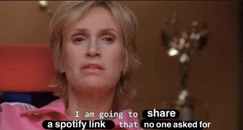 """reactions on Twitter: """"sue sylvester jane lynch glee I am going to share a  spotify link that no one asked for… """""""