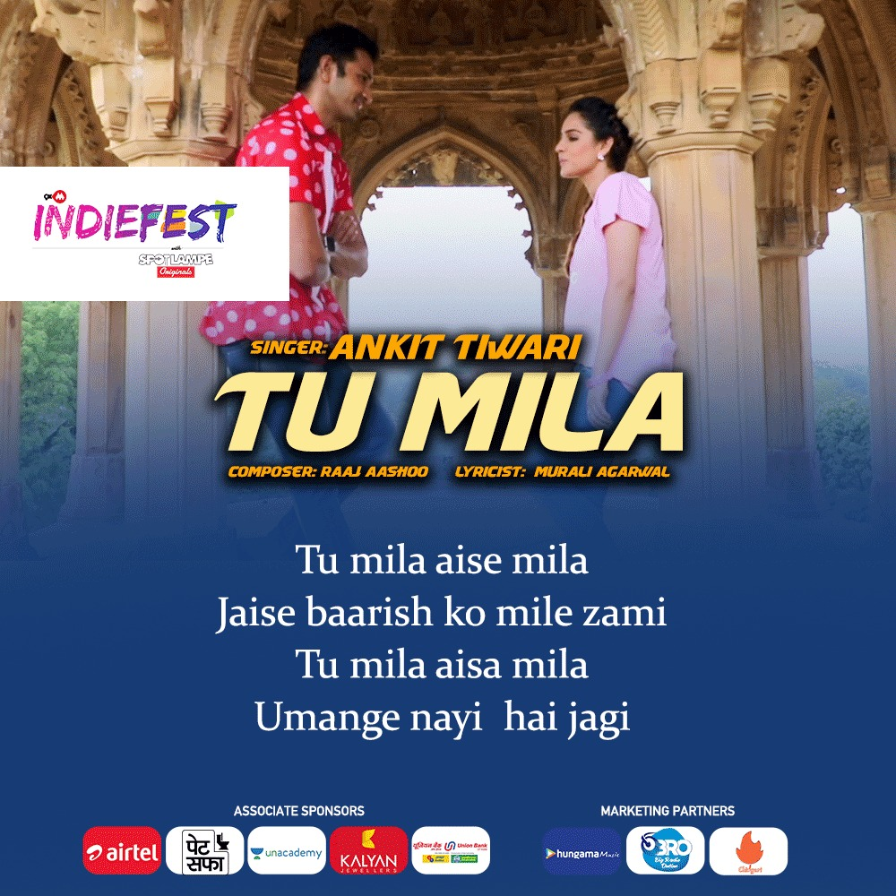 Begin your day by listening to a soothing romantic pop song 'TU MILA' by the talented singer, @officiallyAnkit. Watch and listen to it here:   @raajmd  @airtelindia @petsaffa @unacademy @KalyanJewellers @UnionBankTweets @Hungama_com @bigfmindia @Chingari_IN