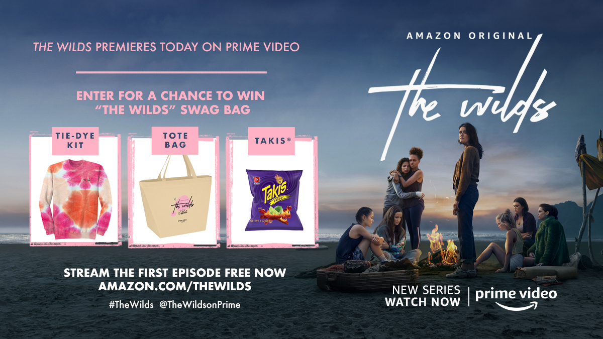 """we wanna give u some of our supplies. tweet #TheWilds and #Sweepstakes now for a chance to win some.    Disclaimer: No Purch Nec. Must be 18+ and live in US 50 + D.C. """""""