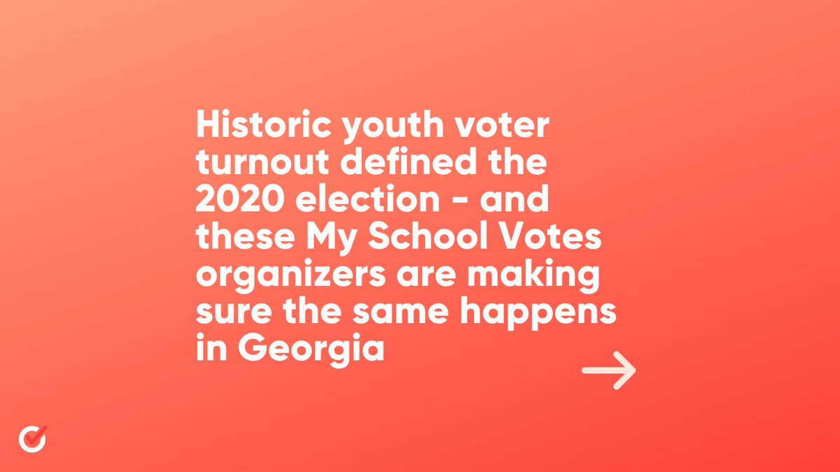 Young voters and organizers helped determine the outcome of Georgia's general election.   Our #MySchoolVotes students are working to make history again in Georgia's upcoming runoffs.