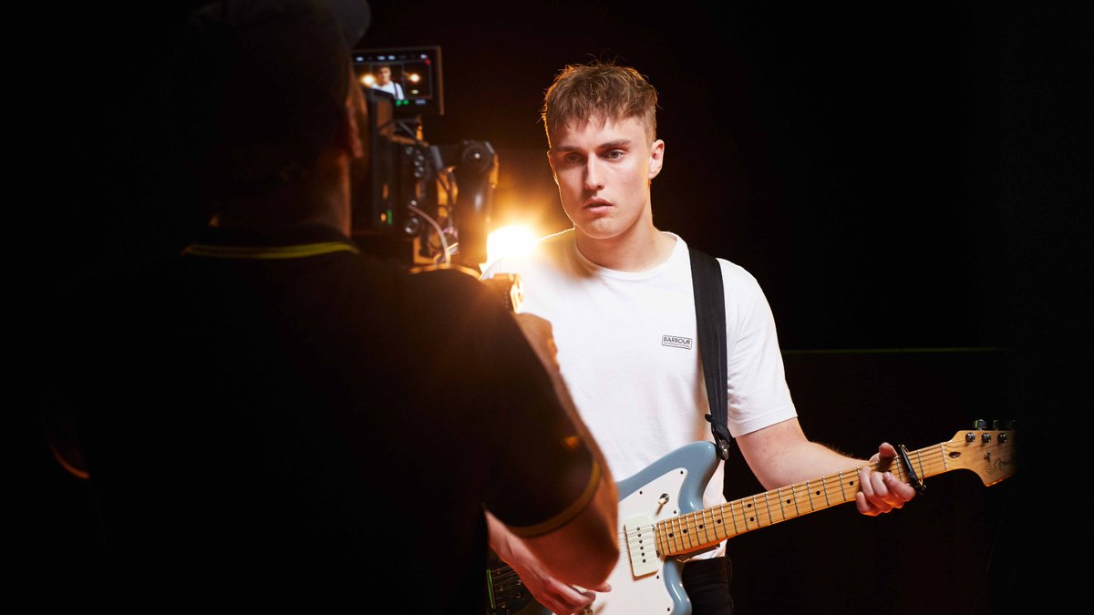 We caught up with North East-based musician, @samfendermusic, behind the scenes of his photoshoot with Barbour International and @scottsmenswear, as he reveals his first live performance memory. Discover more: https://t.co/27M8fA4xva #BadgeOfAnOriginal https://t.co/bCftFFgMV6