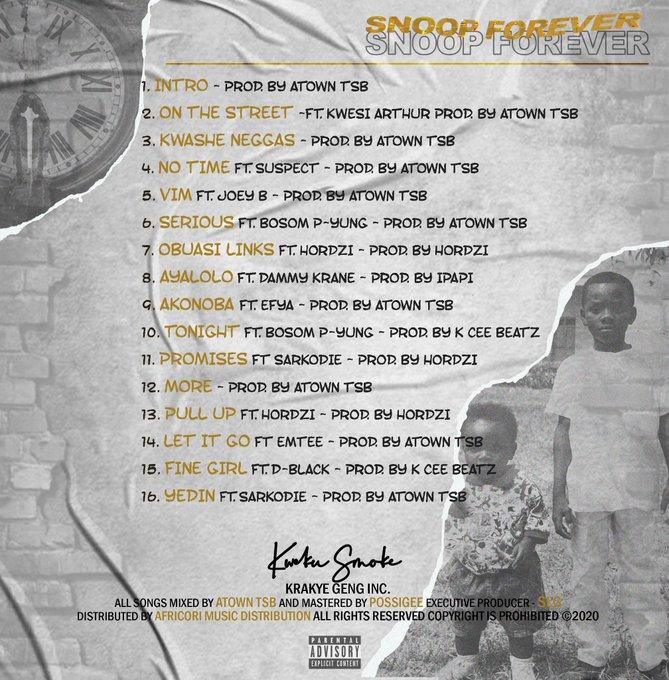 Kweku Smoke releases track-list for forthcoming Snoop Forever Album