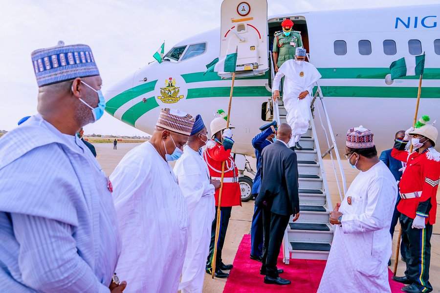 President Buhari Arrives Daura For A 7-day Private Visit