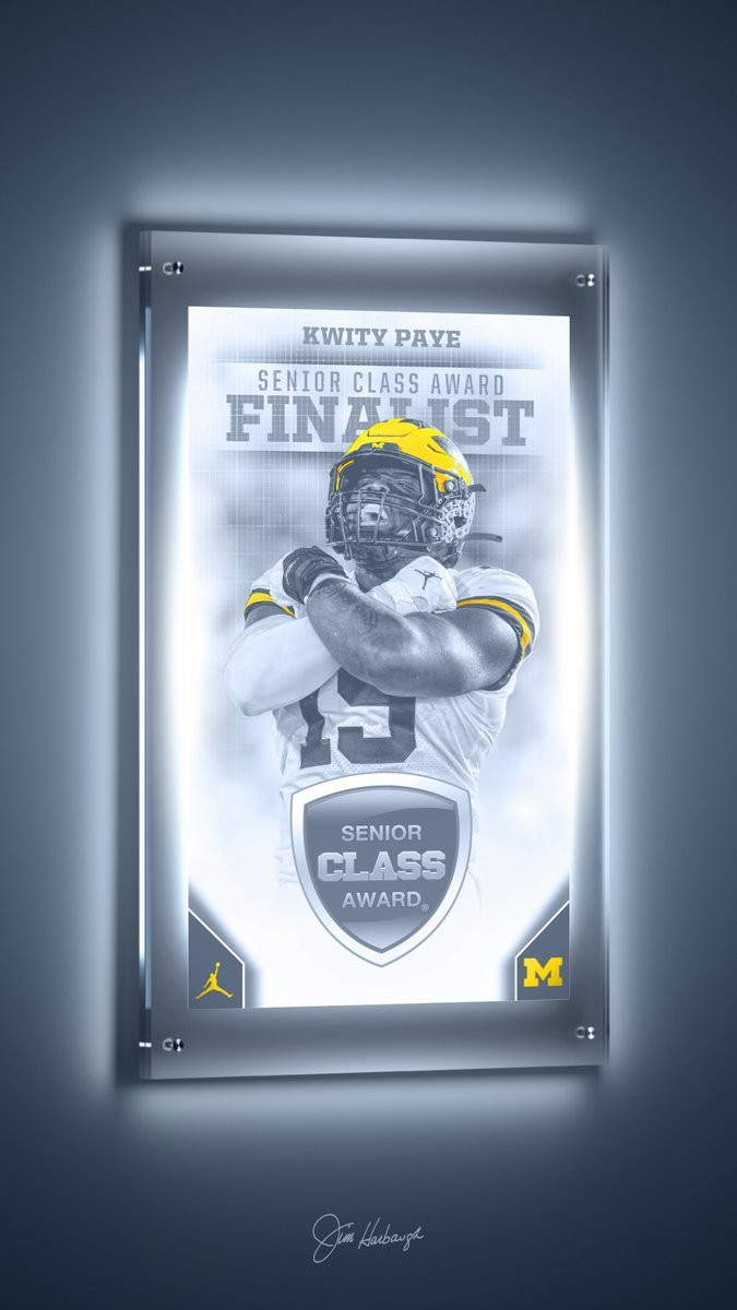 🙌 @KwityPaye_19 was named one of 10 finalists for the 2020-21 Senior CLASS Award in collegiate football, given to the senior who has notable achievements in four areas of excellence: community, classroom, character and competition.